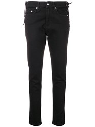 Mcq By Alexander Mcqueen Laced Harvey Slim Fit Jeans Black