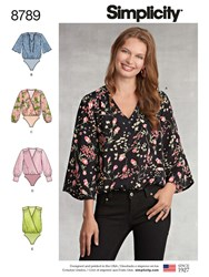 Simplicity 'S Blouse Bodysuit Sewing Pattern 8789