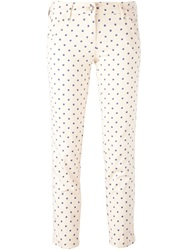 Jacob Cohen Polka Dot Slim Fit Jeans