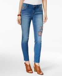 Style And Co Petite Embroidered Patched Skinny Ankle Jeans Only At Macy's Sunnyvale