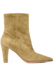 Alberto Fermani Pointed Ankle Boots Green