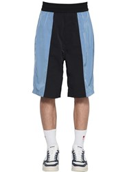 Ami Alexandre Mattiussi Color Block Shorts Black Blue