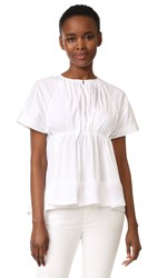 Victoria Beckham Gathered Empire Top White