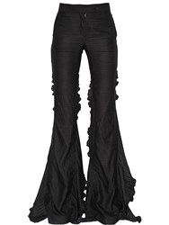 Marco De Vincenzo Crepe Satin Flared Pants