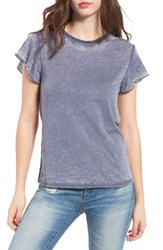 Women's Bp. Ruffle Sleeve Tee Navy Dusk