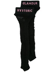 Hysteric Glamour Fishnet Logo Socks Black
