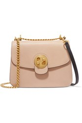 Chloe Mily Medium Textured Leather And Suede Shoulder Bag Blush