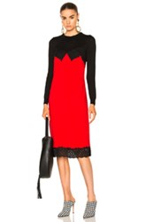 Altuzarra Debbie Dress In Black Red Black Red