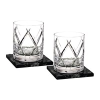 Waterford Dof Tumbler And Marble Coaster Set Of 2 Olann