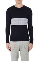 Band Of Outsiders Men's Contrast Panel Sweater Multi
