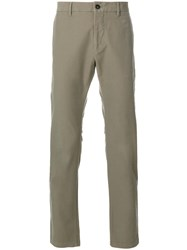 Closed Straight Leg Chinos Cotton Spandex Elastane Green