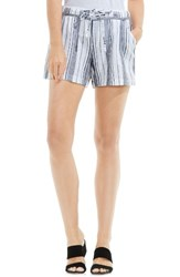 Vince Camuto Women's Two By Stripe Cotton And Linen Shorts
