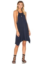 Lacausa Hemp Petal Dress Navy