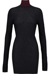 Marni Ribbed Knit Turtleneck Sweater Charcoal