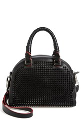 Christian Louboutin 'Small Panettone' Studded Calfskin Dome Satchel Black Black Black