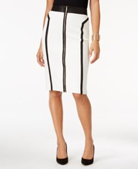 Thalia Sodi Zip Front Scuba Pencil Skirt Only At Macy's Cloud