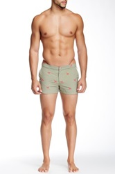 Parke And Ronen 2' Angeleno Embroidered Swim Short Green