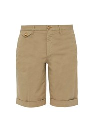 Incotex Royal Batavia Mid Rise Linen Blend Chino Shorts Beige