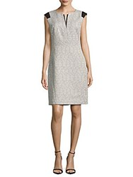 Lafayette 148 New York Zelina Cotton Blend Dress Bateau Blue