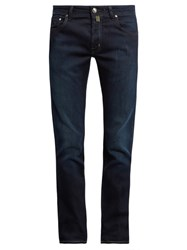 Jacob Cohen Tailored Stretch Denim Jeans Navy