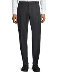 Armani Collezioni Techno Stretch Jogger Trousers Charcoal Gray