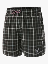 Speedo Check Leisure 16 Swim Shorts Black Grey White