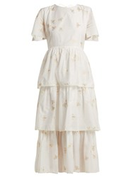 Athena Procopiou In The Morning Tiered Dress White Multi
