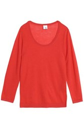 Iris And Ink Hope Cashmere Sweater Red