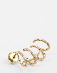 Montse Esteve Mini Hoop Earring Yellow Gold Left
