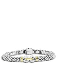 Lagos 18K Gold And Sterling Silver Derby Fluted Rope Bracelet Gold Silver