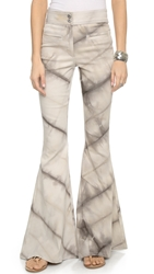 One By Made For Pearl Tie Dye Joplin Bell Bottom Pants Oat