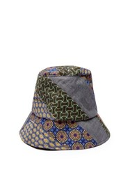 Albertus Swanepoel Panelled Cotton Bucket Hat Multi