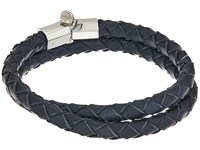 Miansai Rovos Leather Double Wrap Bracelet Navy