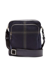 Paul Smith Checked Twill Cross Body Bag Blue