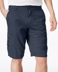 Buffalo David Bitton Men's Herculean Flat Front Shorts Whale
