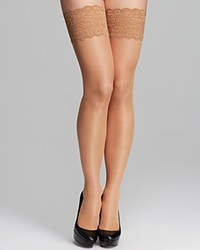 Wolford Satin Touch Stay Ups Tights Gobi