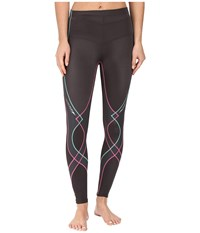 Cw X Stabilyx Tight Grey Pink Turquoise Women's Workout Brown