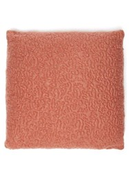 L'objet X Haas Brothers Vermiculation Mohair Blend Cushion Red