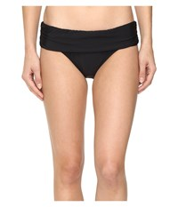 Athena Cabana Solids Lani Banded Bikini Bottom Black Women's Swimwear