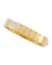 Pois Moi Two Row Diamond Bangle Yellow Gold Roberto Coin Red