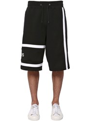 Givenchy Logo Embroidered Cotton Shorts Black