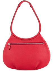 Hermes Vintage Cacahuete Shoulder Bag Red