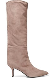 Stuart Weitzman Magda Suede Knee Boots Taupe