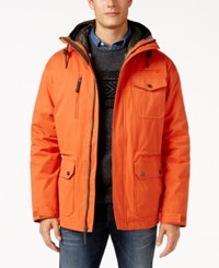 Free Country Men's Oxford Blend 3 In 1 Down Jacket Harris Orange