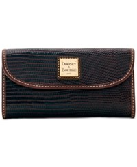 Dooney And Bourke Lizard Embossed Continental Clutch Wallet A Macy's Exclusive Style Espresso