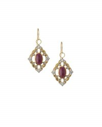 Jude Frances 18K Ruby And Diamond Drop Earrings