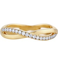 De Beers Infinity Yellow Gold And Pave Diamond Ring