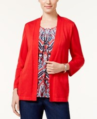 Alfred Dunner Uptown Girl Layered Look Cardigan