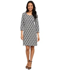 Hatley Zip Back Dress Medallion On Black Women's Dress