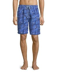 Peter Millar Tabby Shells Swim Trunks Blue